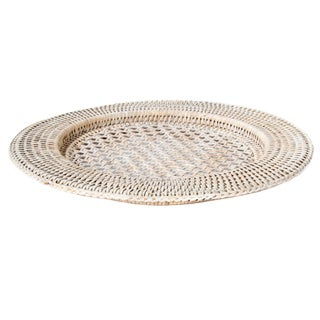 Artifacts Rattan Open Weave Charger For Sale