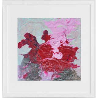 """""""Pink Flamingo"""" Contemporary Abstract Acrylic Painting, Framed For Sale"""