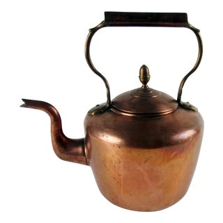Antique English Copper Tea Kettle For Sale
