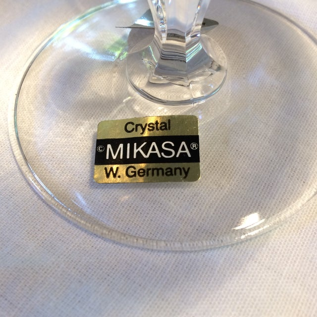 Crystal Crystal Gold Rim Brandy Snifters by Mikasa West Germany - a Pair For Sale - Image 7 of 11