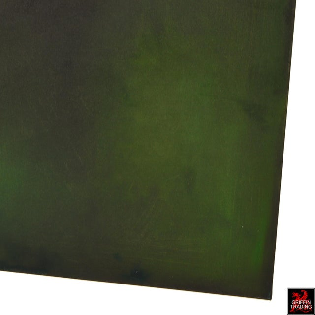 Green AN28 Signed Original Abstract Painting For Sale - Image 8 of 10