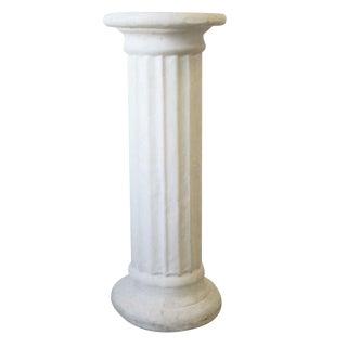 Late 20th Century White Plaster Doric Order Pillar Column Pedestal For Sale