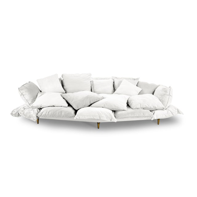 Not Yet Made - Made To Order Seletti, Comfy Sofa, White, Marcantonio, 2017 For Sale - Image 5 of 5