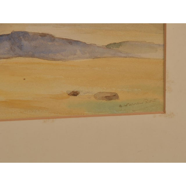 Modern 1900s Vintage English Landscape Watercolor Painting of the South Coast by A. Warren Dow For Sale - Image 3 of 3