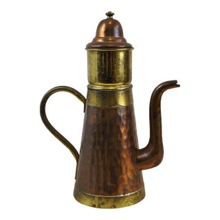 Antique Copper Brass Coffee Making Pot