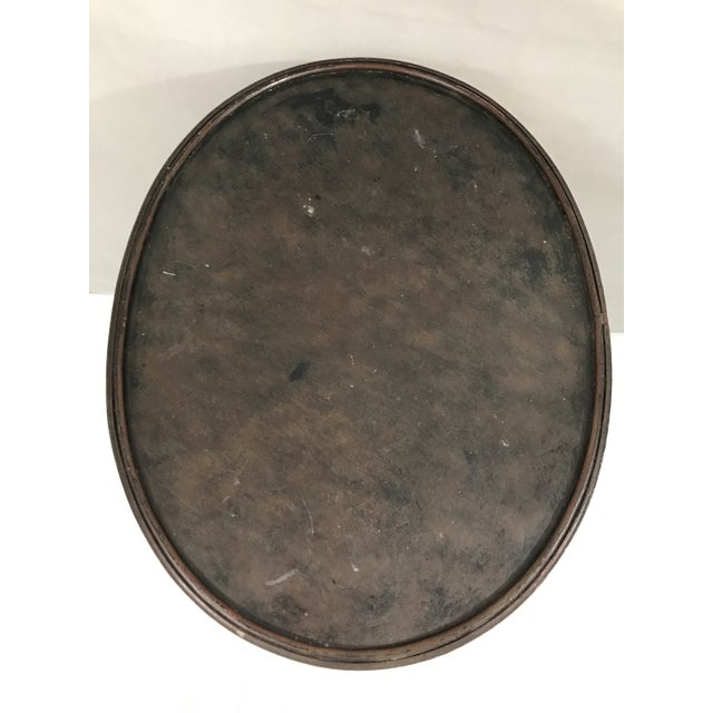 Black Oval Metal Side Table For Sale - Image 8 of 9