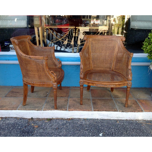 Pair of Louis XVI Style Armchairs For Sale - Image 13 of 13