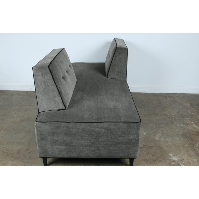 Modern Mohair Double Sided Sofa For Sale - Image 11 of 11