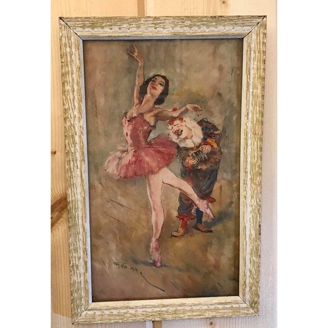 Framed Mid-Century Ballerina Print   Chairish