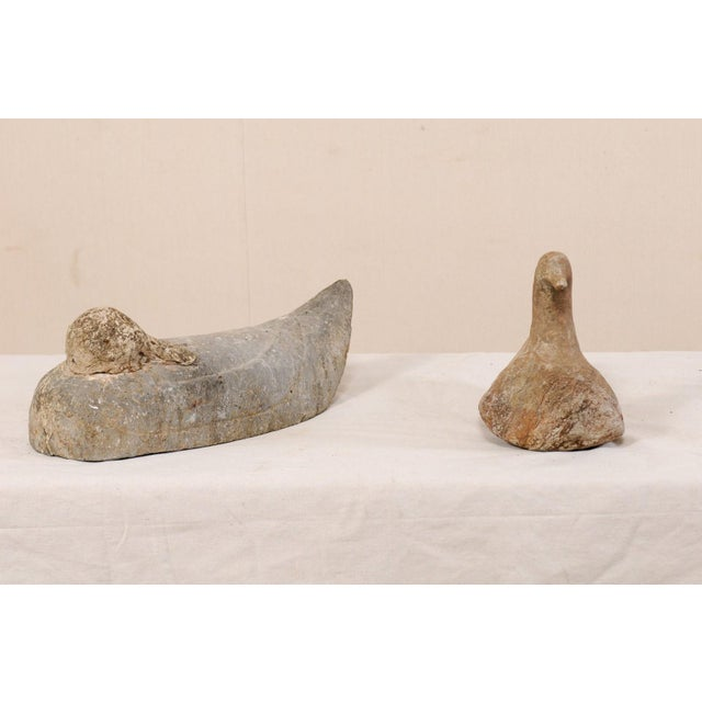 Pair of 19th Century French Carved Stone Ducks For Sale - Image 9 of 12