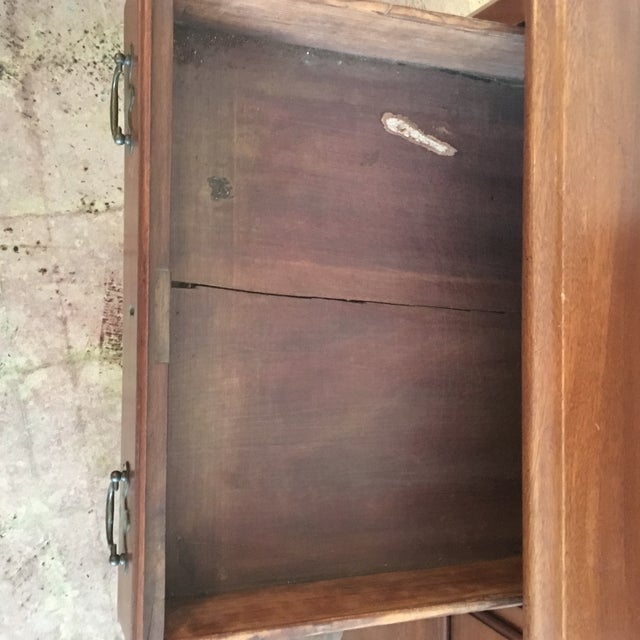 1800's Hand Made Chippendale Mahogany Desk For Sale - Image 6 of 10