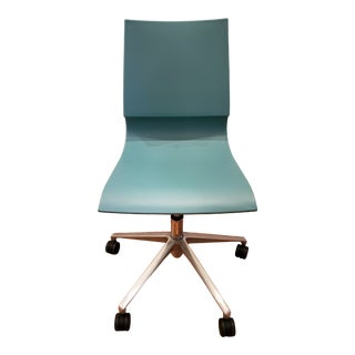 Knoll Max Maran Gigi Seafoam Swivel Chair For Sale