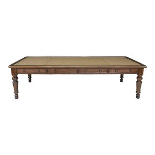 19th Century English Mahogany Leather Top Partner's / Writing Desk For Sale