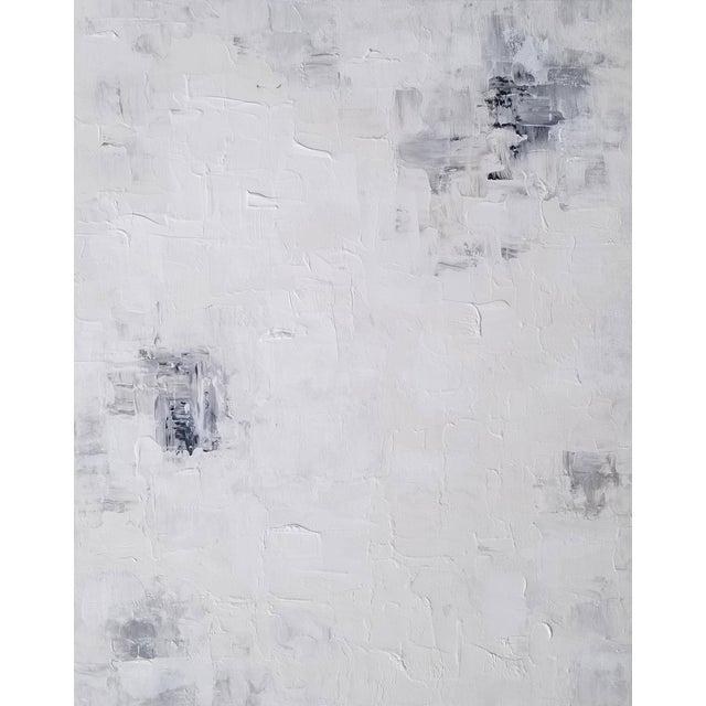 Abstract Original Context Black White Neutral Impasto Texture Painting