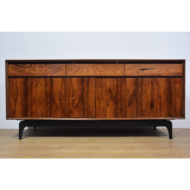 Mid-Century Rosewood and Walnut Credenza - Image 2 of 11