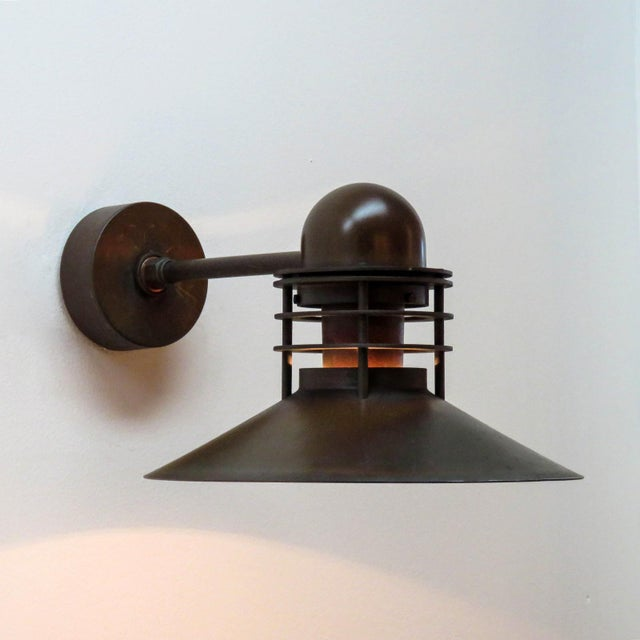 Metal Louis Poulsen Copper Outdoor Lamp, 1970 For Sale - Image 7 of 9