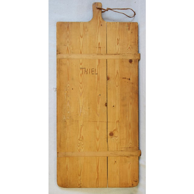Early 20th Century Vintage European Charcuterie Cheese Meat Bread Display Board For Sale - Image 5 of 6