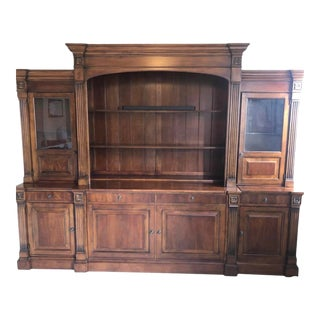 Ethan Allen Traditional Entertainment Center and Display Cases For Sale