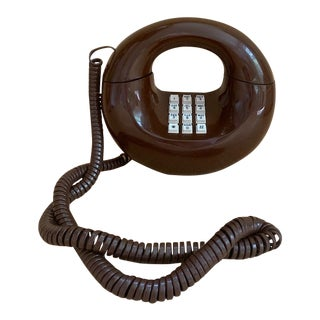 1970's Sculptura Chocolate Brown Donut Phone For Sale