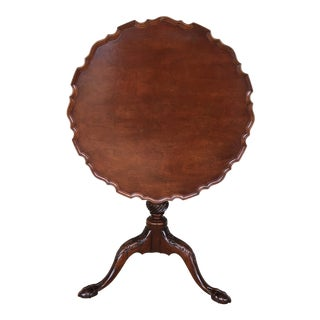 Edison Institute Museum Reproductions Mahogany Birdcage Tilt Top Table