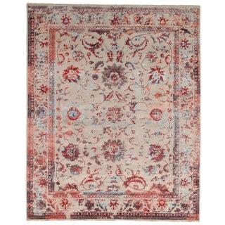 Pasargad DC Modern Erased Design Silk & Wool Rug - 8′ × 10′ For Sale