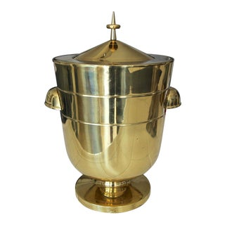 1950s Tommi Parzinger Brass Champagne Ice Bucket For Sale
