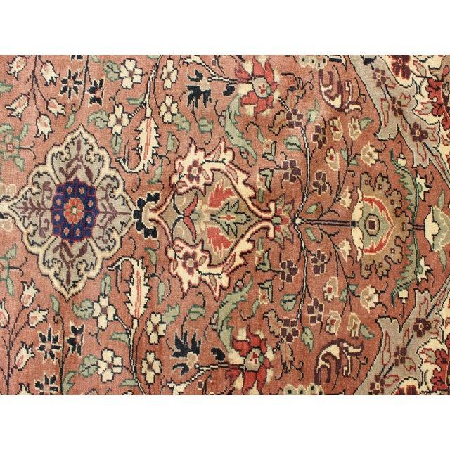 Textile 1950s Vintage Turkish Kaysari Rug - 6′6″ × 9′10″ For Sale - Image 7 of 13