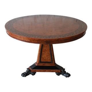 Baker Furniture Stately Homes Collection Burl Ash Regency Center Table For Sale