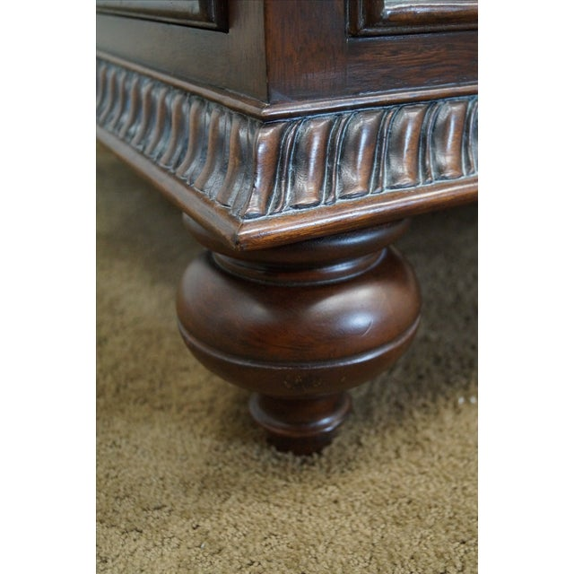 Ethan Allen Leather Top Morley Coffee Table - Image 5 of 10