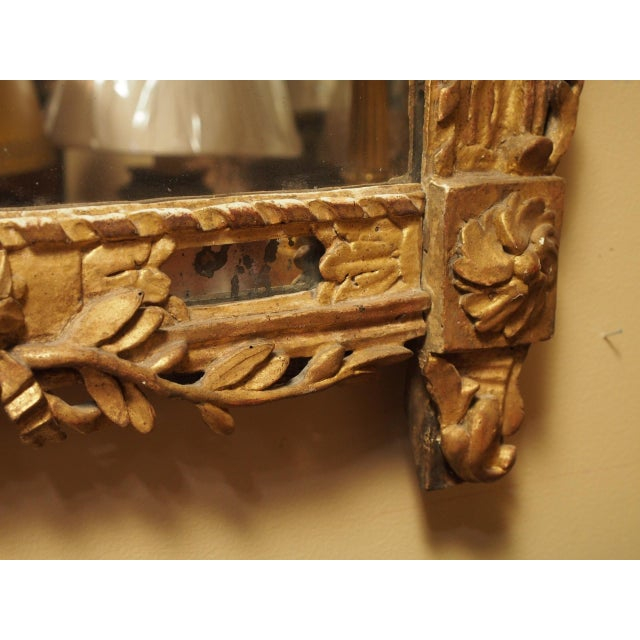 Giltwood Epoch Louis XVI Gilt Wood Mirror For Sale - Image 7 of 9