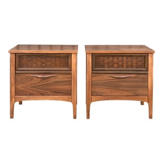 Mid Century Warren Church Pair of Nighstands for Lane Perception For Sale