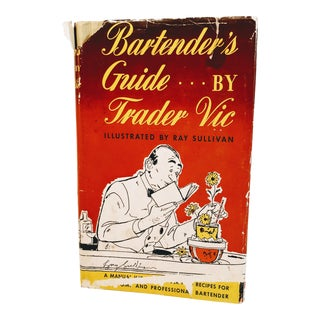 Vintage Mid Century Book Bartender Guide by Trader Vic Cocktails Mixology Book For Sale