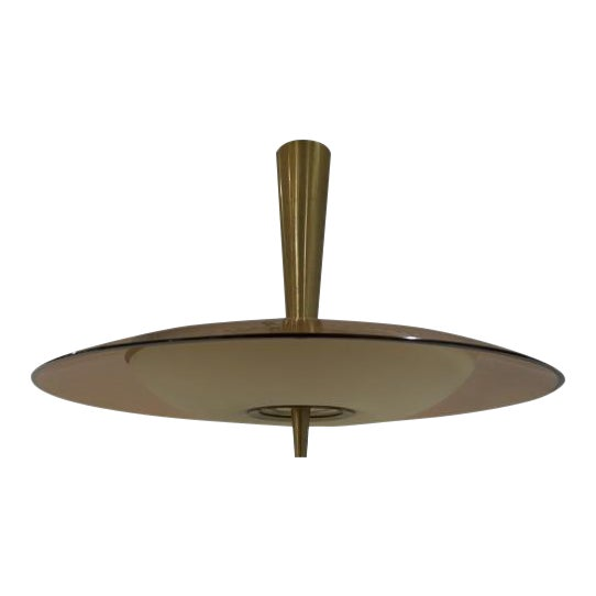 Fontana Arte Chandelier with Rose Glass Model 1462A For Sale