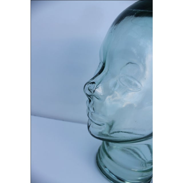 Molded Light Green Glass Head - Image 7 of 9