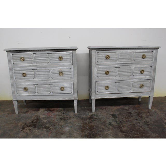 20th Century Vintage Swedish Gustavian Style Nightstands - a Pair For Sale - Image 11 of 11