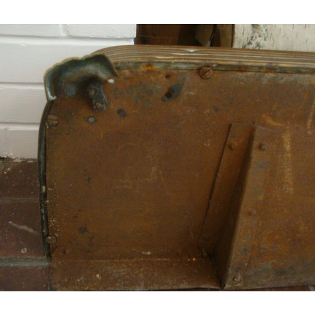 Early Arts & Crafts Brass Fireplace Fender Rail For Sale - Image 9 of 9