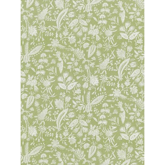 Scalamandre Tulia Linen Print, Willow Fabric For Sale