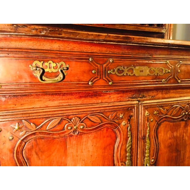 19th Century Hand Carved Walnut French Vaisselier For Sale - Image 12 of 13