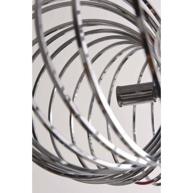 Metal Mid-Century Modern Gaetano Sciolari Chandeliers Polished Chrome Pendant Light - a Pair For Sale - Image 7 of 10