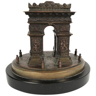 Grand Tour Bronze Architectural Model of the Arc De Triomphe in Paris For Sale