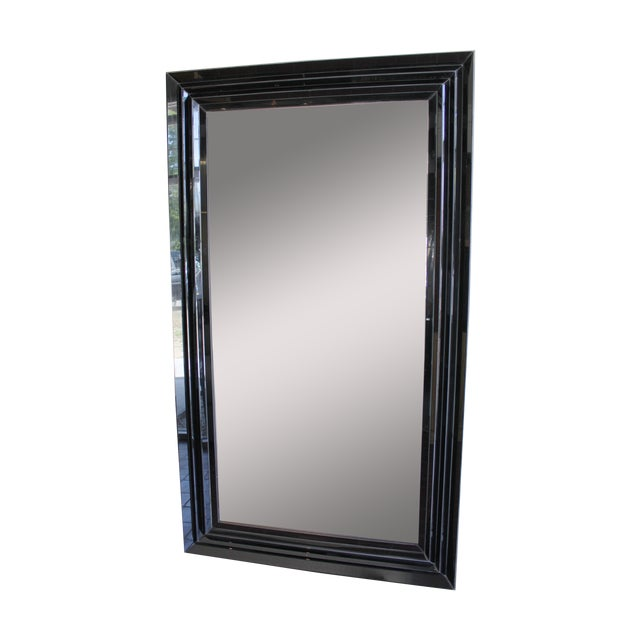 Large Black and Clear Frame Mirror - Image 1 of 4