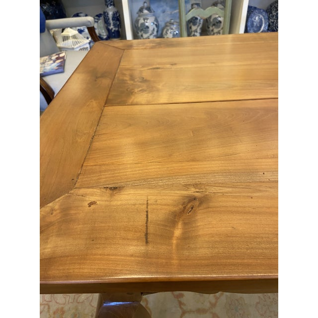 Antique French Country Handmade Cherry Farm Dining Table For Sale - Image 4 of 8