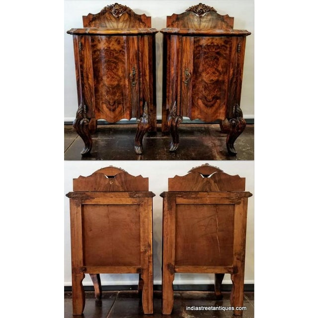 Antique Italian Olive Wood Neo-Rococo Venetian Baroque Six Piece Bedroom Suite For Sale - Image 4 of 13