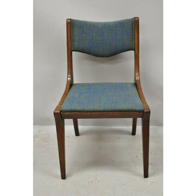 Drexel Dateline John Van Koert Walnut Mid Century Modern Dining Side Chair (A) Solid wood construction, original stamp,...