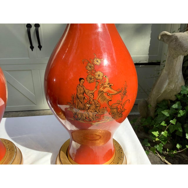 Frederick Cooper Chinoiserie Lamps, a Pair For Sale - Image 12 of 13