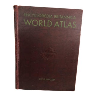 Vintage 1956 Encyclopedia Brittanica World Atlas