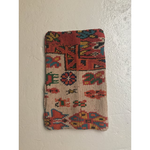 Vintage Moroccan Rug Wool Pillow - Image 2 of 11