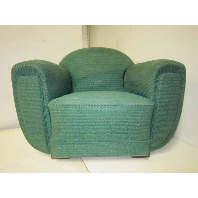 1930s French Art Deco Upholstered Club Chairs-a Pair For Sale - Image 11 of 13