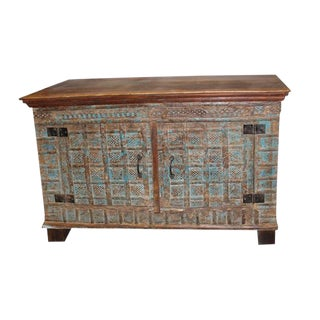 1920s Asian Antique Reclaimed Wood Sideboard For Sale