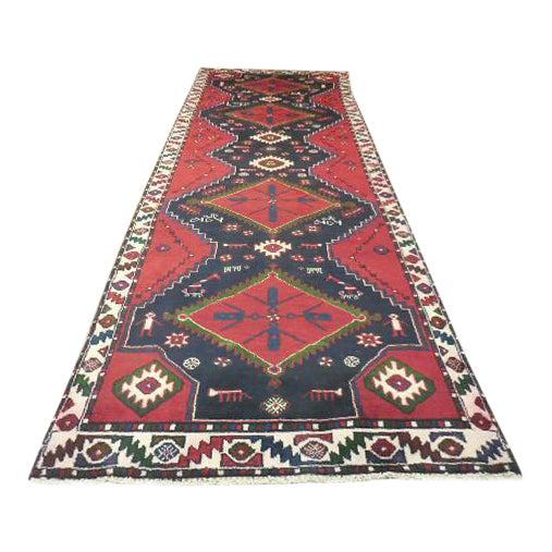 "Persian Tribal Kilim Runner - 3'5"" x 10'3"" For Sale"
